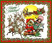 GIORDANO, CHRISTMAS ANIMALS, WEIHNACHTEN TIERE, NAVIDAD ANIMALES, Teddies, paintings+++++,USGI1457M,#XA#