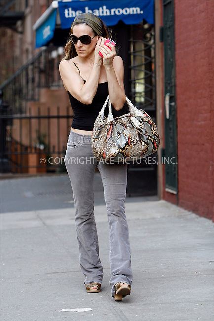 WWW.ACEPIXS.COM . . . . .  ....April 7 2010, New York City....Actress Sarah Jessica Parker seen walking in her West Village neighborhood on April 7 2010 in New York City....Please byline: NANCY RIVERA- ACEPIXS.COM.... *** ***..Ace Pictures, Inc:  ..Tel: 646 769 0430..e-mail: info@acepixs.com..web: http://www.acepixs.com