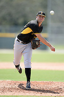 Pittsburgh Pirates pitcher Ryan Hafner (52) during an Instructional League game against the New York Yankees on September 18, 2014 at the Pirate City in Bradenton, Florida.  (Mike Janes/Four Seam Images)
