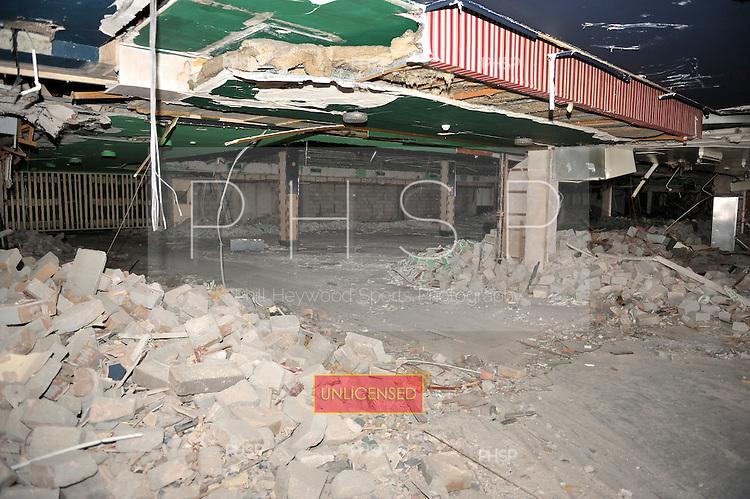 Mecca Building Demolition 02/02/09..Ballroom upper level ,view towards the Highland Room