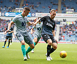 21.07.2019: Rangers v Blackburn Rovers: Scott Arfield and Darragh Lenihan