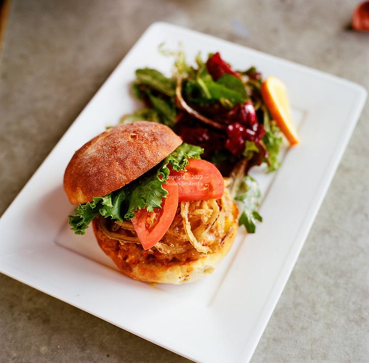 The Spicy Joe Sandwich at Cafe Flora in Seattle, WA