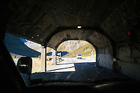 Tunnel on the Drive from Te Anau to Milford Sound, Fiordland, South Island, New Zealand.