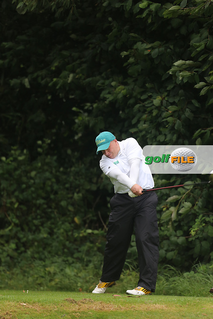 Paul Coey (Mahee Island) during the Ulster Mixed Foursomes Final, Shandon Park Golf Club, Belfast. 19/08/2016<br /> <br /> Picture Jenny Matthews / Golffile.ie<br /> <br /> All photo usage must carry mandatory copyright credit (© Golffile | Jenny Matthews)