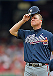 22 July 2012: Atlanta Braves third baseman Chipper Jones steps from the mound during a game against the Washington Nationals at Nationals Park in Washington, DC. The Braves fell to the Nationals 9-2 splitting their 4-game weekend series. Mandatory Credit: Ed Wolfstein Photo