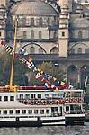 Istanbul, Turkey, Yeni Camii Mosque, Ottoman Architecture, Passenger Ferries, Eminonu ferry dock, Golden Horn,
