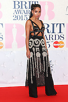 FKA twigs arriving at The Brit Awards 2015 (Brits) held at the O2 - Arrivals, London. 25/02/2015 Picture by: James Smith / Featureflash
