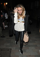 """Amber Davies at the """"9 To 5 The Musical"""" theatre stage door cast departures, Savoy Theatre, The Strand, London, England, UK, on Tuesday 09th April 2019.<br /> CAP/CAN<br /> ©CAN/Capital Pictures"""