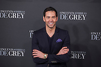 David Meca poses for the photographer during '50 Shades of Grey' film premiere in Madrid, Spain. February 12, 2015. (ALTERPHOTOS/Victor Blanco) /NORTEphoto.com
