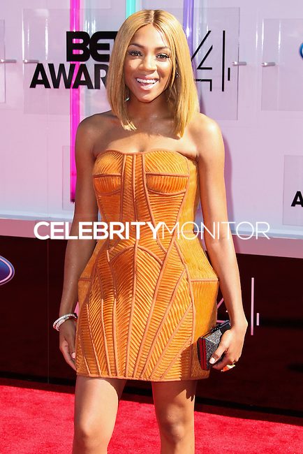 LOS ANGELES, CA, USA - JUNE 29: Rapper Lil' Mama arrives at the 2014 BET Awards held at Nokia Theatre L.A. Live on June 29, 2014 in Los Angeles, California, United States. (Photo by Xavier Collin/Celebrity Monitor)
