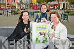 Parents Emer Paterson from Ballyheigue, Siobhán Moloney from Asdee and Cathy Sheehy from Abbeyfeale who areorganising a special fundraiser for the ASD Unit of Scoil Realta na Maidine in Listowel by collecting old mobile phones, pictured here lastMonday on the square Listowel.