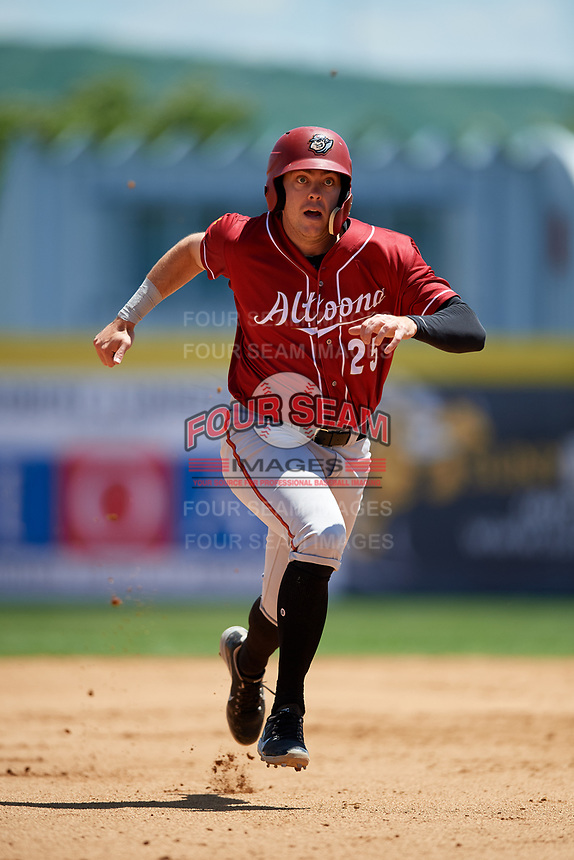 Altoona Curve first baseman Will Craig (25) runs the bases during a game against the Binghamton Rumble Ponies on June 14, 2018 at NYSEG Stadium in Binghamton, New York.  Altoona defeated Binghamton 9-2.  (Mike Janes/Four Seam Images)