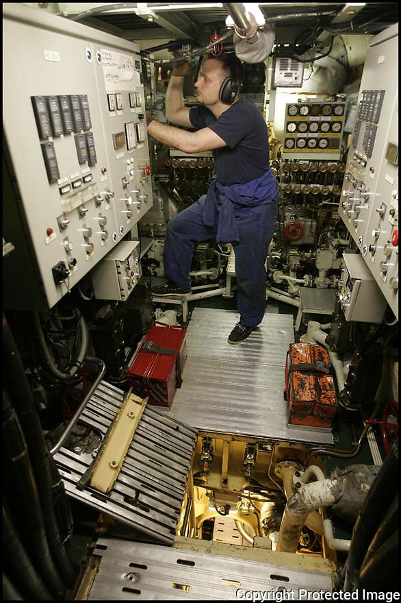 SNA Saphir,<br /> Sous-marin nucl&eacute;aire d'attaque.<br /> Tranche nucl&eacute;aire.