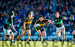 Alan O'Sullivan Dr Crokes in action against Colin O'Brien Nemo Rangers in the Munster Senior Club Championship Final at Páirc Ui Rinn, Cork on Sunday.