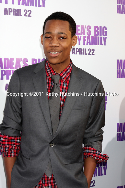 "LOS ANGELES - APR 19:  Tyler James Williams arriving at the ""Madea's Big Happy Family"" Premiere at ArcLight Cinemas Cinerama Dome on April 19, 2011 in Los Angeles, CA.."