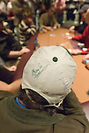 "John Bertucci displays a ""Doyle Brunson"" autograph on his hat."