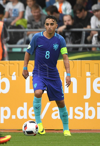 12.07.2016. Donaustadion, Ulm, Germany.  Netherland's Abdelhak Nouri in action during the U19 European Soccer Championship Group B preliminary round match between Croatia and the Netherlands at Donaustadion in Ulm, Germany, 12 July 2016.