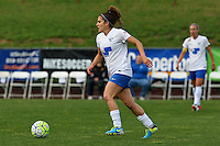 Piscataway, NJ, May 13, 2016. Angela Salem (26) of the Boston Breakers dribbles upfield.  Sky Blue FC defeated the Boston Breakers, 1-0, in a National Women's Soccer League (NWSL) match at Yurcak Field.