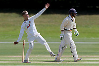 Chris Jones in bowling action during Essex CCC 2nd XI vs Surrey CCC 2nd XI, Second XI Championship Cricket at Billericay Cricket Club on 16th May 2017