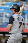 August 22, 2003:  Mike Walls of the Tri-City ValleyCats during a game at Dwyer Stadium in Batavia, New York.  Photo by:  Mike Janes/Four Seam Images