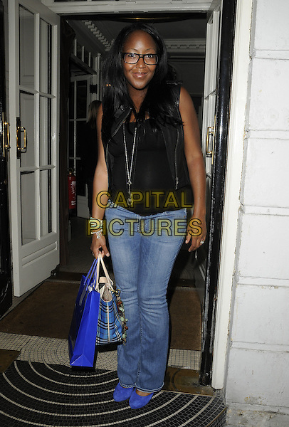 ANGELLICA BELL.Jeans for Genes launch party at Kettners, London, England..September 5th, 2011.full length jeans denim black sleeveless glasses top.CAP/CAN.©Can Nguyen/Capital Pictures.