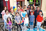 The crowd that gathered to officially open Gina and David Halliday B-SAFE shop by Kerry Mayor Michael Healy Rae in the square Killorglin    Copyright Kerry's Eye 2008