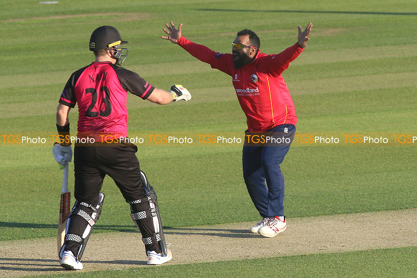 Ashar Zaidi of Essex claims the wicket of Harry Finch during Essex Eagles vs Sussex Sharks, Royal London One-Day Cup Cricket at The Cloudfm County Ground on 10th May 2017