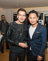 Sean Scott and Kyle Chan attend the Levitation Activewear presents Sean Scott's Birthday Bash at SKYBAR on Dec. 17, 2015 (Photo by Inae Bloom/Guest of a Guest)