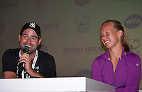 Den Bosch, Netherlands, 07 June, 2016, Tennis, Ricoh Open, Press conference Kiki Bertens and her coach Raemon Sluiter<br /> Photo: Henk Koster/tennisimages.com