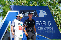 Lucas Herbert (NZL) on the 14th tee during the 1st round of the DP World Tour Championship, Jumeirah Golf Estates, Dubai, United Arab Emirates. 15/11/2018<br /> Picture: Golffile | Fran Caffrey<br /> <br /> <br /> All photo usage must carry mandatory copyright credit (&copy; Golffile | Fran Caffrey)