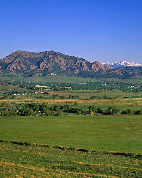 Boulder Valley and the Flatirons rock formation, Boulder, Colorado, USA. Private guided tours to Indian Peaks. .  John leads private photo tours in Boulder and throughout Colorado. Year-round Colorado photo tours.