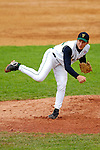 18 May 2006: Jeremiah Bayer,  a University of Vermont Freshman from Greenfield, MA, on the mound against the University of Maine Black Bears, at Historic Centennial Field, in Burlington, Vermont...Mandatory Photo Credit: Ed Wolfstein Photo.