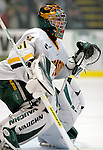 5 January 2007: University of Vermont goaltender Mike Spillane (31) from Bow, NH, in action against the University of New Hampshire Wildcats at Gutterson Fieldhouse in Burlington, Vermont. The UNH Wildcats defeated the UVM Catamounts 7-1 in front of a record setting 48th consecutive sellout at &quot;the Gut&quot;...Mandatory Photo Credit: Ed Wolfstein Photo.<br />