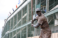 August 9, 2009:  A statue depicting Hall of Fame member Ernie Banks (Mr. Cub) after a game at Wrigley Field in Chicago, IL.  Iowa is the Pacific Coast League Triple-A affiliate of the Chicago Cubs.  Photo By Mike Janes/Four Seam Images