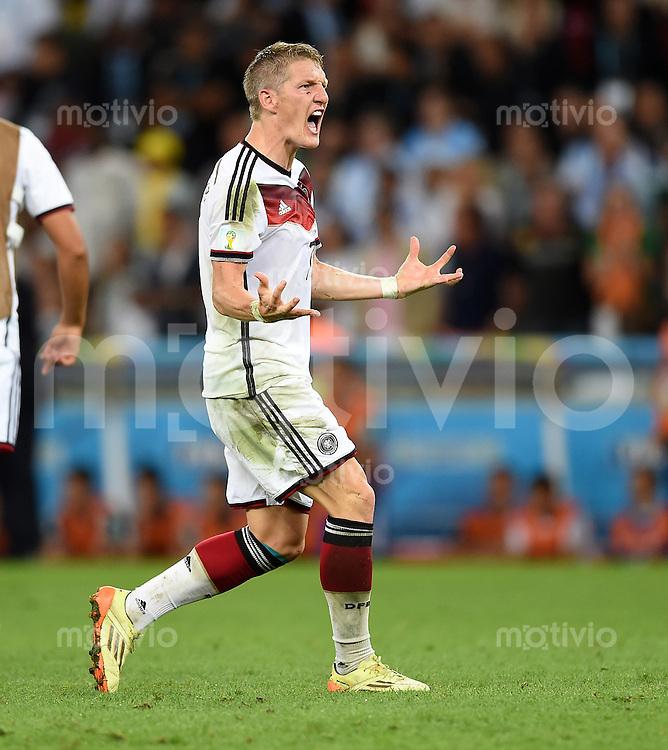FUSSBALL WM 2014                FINALE Deutschland - Argentinien     13.07.2014 Bastian Schweinsteiger (Deutschland) jubelt nach dem 1:0