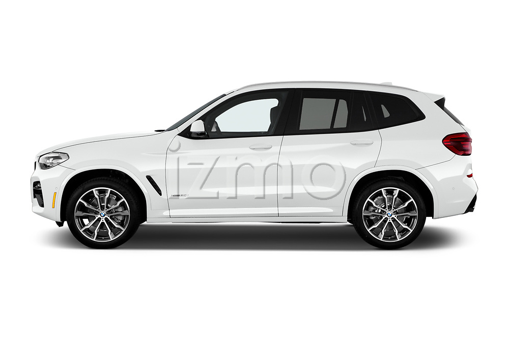 Car driver side profile view of a 2019 BMW X3 M Sport 5 Door SUV