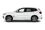 Car driver side profile view of a 2018 BMW X3 M Sport 5 Door SUV
