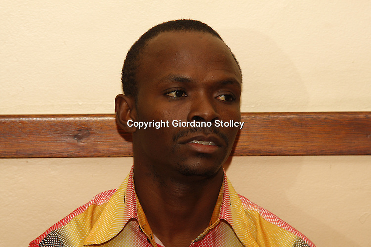 CAMPERDOWN - 6 February 2014 - Tanzanian national Steven John Masunga in the Camperdown  Magistrate's Court where his application for bail was denied. Masunga faces a charge of intimidation, where he is accused of threatening President Jacob Zuma's second wife Nompumelelo Ntuli in a bid to force a meeting with the South African president. Picture: Allied Picture Press/APP