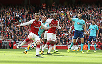 Arsenal's Aaron Ramsey with a second half shot<br /> <br /> Photographer Rob Newell/CameraSport<br /> <br /> The Premier League - Arsenal v AFC Bournemouth - Saturday 9th September 2017 - The Emirates - London<br /> <br /> World Copyright &copy; 2017 CameraSport. All rights reserved. 43 Linden Ave. Countesthorpe. Leicester. England. LE8 5PG - Tel: +44 (0) 116 277 4147 - admin@camerasport.com - www.camerasport.com