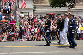 Members of the military march in th 4th of July parade on Constitution Avenue in Washington D.C. on July 4, 2019.<br /> <br /> Credit: Stefani Reynolds / CNP