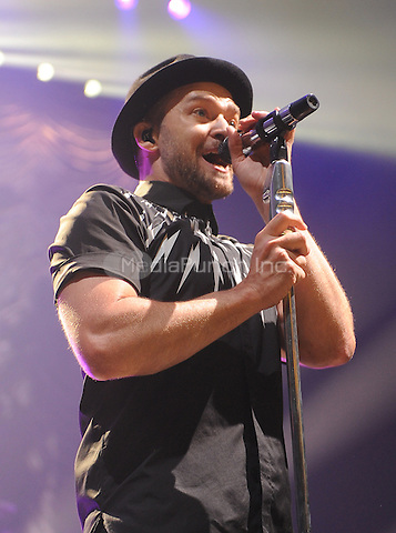 New York,NY- July 10: Justin Timberlake performs during an exclusive NYC performance with Citi / AAdvantage & MasterCard Priceless Access In New York City at Hammerstein Ballroom on July 10, 2014  . Credit: John Palmer/MediaPunch