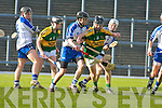 BREAKOUT: Kerry's Darragh O'Sullivan.with support from PJ Keane tries to lift.the Waterford siege in their Munster.Minor clash at Fitzgerald Stadium.