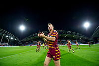Picture by Allan McKenzie/SWpix.com - 11/05/2018 - Rugby League - Ladbrokes Challenge Cup - Huddersfield Giants v Wakefield Trinity - John Smith's Stadium, Huddersfield, England - Huddersfield's Ryan Hinchcliffe thanks the fans for their support after victory over Wakefield.