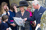CAMILLA, DUCHESS OF CORNWALL AND PRINCE CHARLES<br /> attend the funeral of Mark Shand, camilla Brother who died in New York last week.<br /> Others attending the funeral included sister Annabel and family as well as his daughetr Ayesha.<br /> Also present were Andrew Parker-Bowles, Camilla former husband and Annabel Goldsmith<br /> The funeral service was held at the  Holy Trinity Church, Stourpaine in Dorset_01/05/2014<br /> Mandatory Credit Photo: &copy;Francis Dias/NEWSPIX INTERNATIONAL<br /> <br /> **ALL FEES PAYABLE TO: &quot;NEWSPIX INTERNATIONAL&quot;**<br /> <br /> IMMEDIATE CONFIRMATION OF USAGE REQUIRED:<br /> Newspix International, 31 Chinnery Hill, Bishop's Stortford, ENGLAND CM23 3PS<br /> Tel:+441279 324672  ; Fax: +441279656877<br /> Mobile:  07775681153<br /> e-mail: info@newspixinternational.co.uk