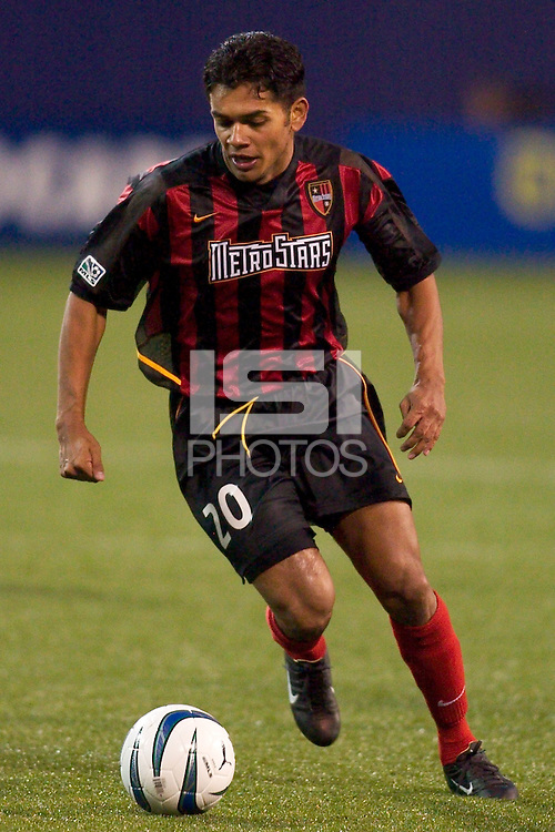 Amado Guevara had two shots on goal during his first game as a MetroStar. The LA Galaxy tied the NY/NJ MetroStars 1-1 on 4/19/03 at Giant's Stadium, NJ.
