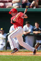 Frankie Schwindel #5 of the St. John's Red Storm during the Big East-Big Ten Challenge vs. the Michigan Wolverines at Al Lang Field in St. Petersburg, Florida;  February 19, 2011.  St. John's defeated Michigan 13-6.  Photo By Mike Janes/Four Seam Images