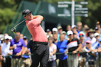 Grayson Murray (USA) tees off the 1st tee to start Saturday's Round 3 of the 2017 PGA Championship held at Quail Hollow Golf Club, Charlotte, North Carolina, USA. 12th August 2017.<br /> Picture: Eoin Clarke | Golffile<br /> <br /> <br /> All photos usage must carry mandatory copyright credit (&copy; Golffile | Eoin Clarke)