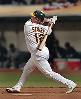 Oakland Athletics Matt Stairs...(1989 photo/Ron Riesterer)
