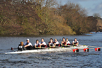 022 .VRC-Hughes .IM2.8+ .Vesta RC. Wallingford Head of the River. Sunday 27 November 2011. 4250 metres upstream on the Thames from Moulsford railway bridge to Oxford Universitiy's Fleming Boathouse in Wallingford. Event run by Wallingford Rowing Club..