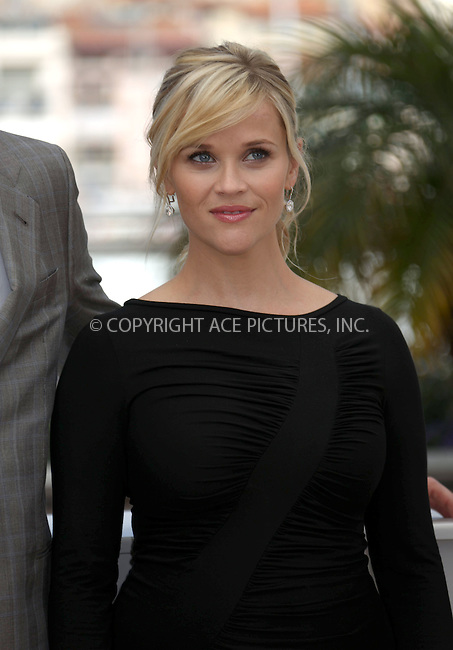 WWW.ACEPIXS.COM . . . . .  ..... . . . . US SALES ONLY . . . . .....May 26 2012, Cannes....Reese Witherspoon at the photocall for 'Mud' at the Cannes Film Festival on May 26 2012 in Cannes, France....Please byline: FAMOUS-ACE PICTURES... . . . .  ....Ace Pictures, Inc:  ..Tel: (212) 243-8787..e-mail: info@acepixs.com..web: http://www.acepixs.com